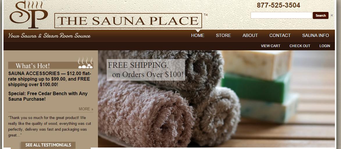 The Sauna Place | 4U SOFTWARE SOLUTIONS-BEST WEB DESIGNING